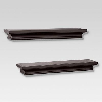 2pc Traditional Shelf Set Brown - Threshold™