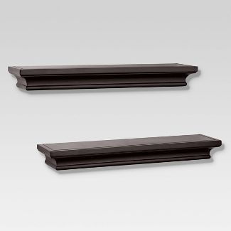 2pc Traditional Shelf Set Brown - Threshold™