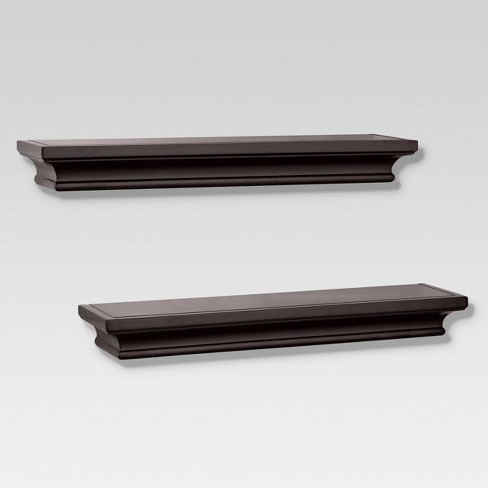 2pc Traditional Shelf Set Brown - Threshold™ - image 1 of 3