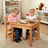Melissa & Doug Solid Wood Table and 2 Chairs Set - Light Finish Furniture for Playroom - image 2 of 4