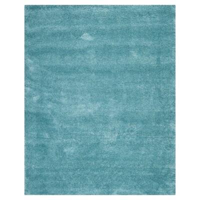 10'x14' Solid Shag/Flokati Loomed Area Rug Aqua Blue - Safavieh