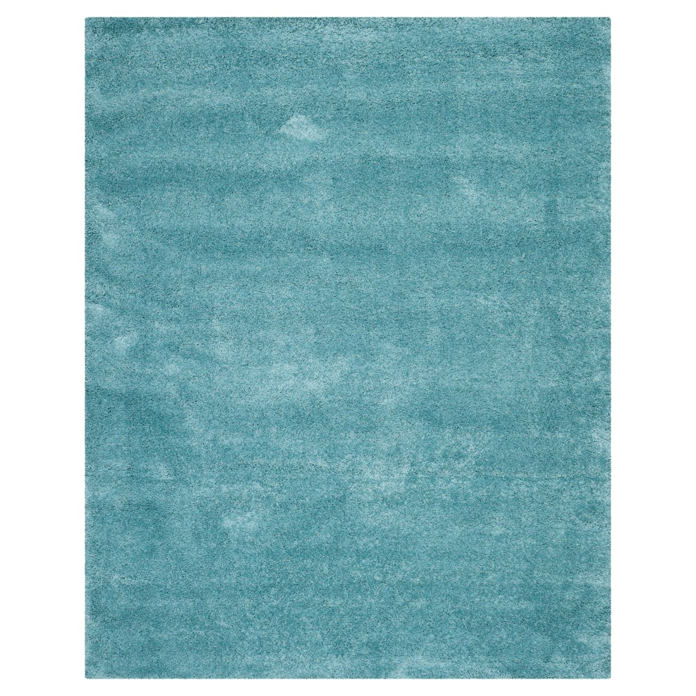 Aqua Blue Solid Shag/Flokati Loomed Area Rug - (5'1X8') - Safavieh