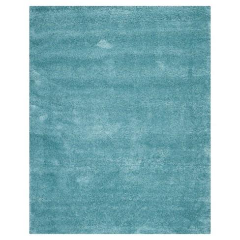 Aqua Blue Solid Shag/Flokati Loomed Area Rug - (10'X14') - Safavieh® - image 1 of 3