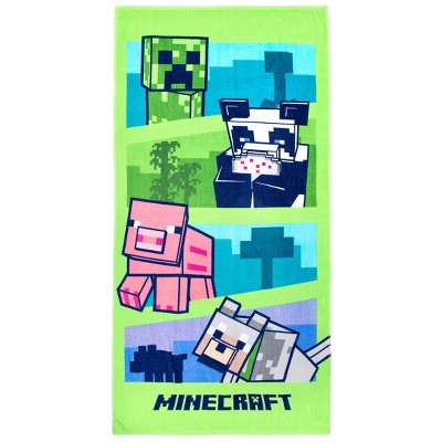 Adventures with Alex Beach Towel Green - Minecraft