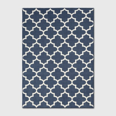 5'X7' Quatrefoil Design Tufted Area Rugs Navy Blue - Threshold™