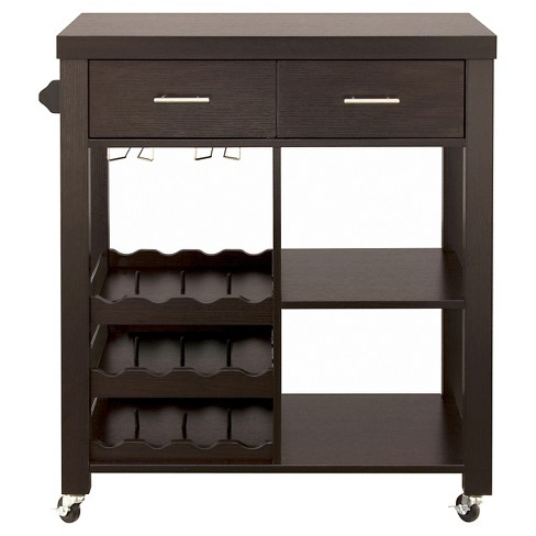 Ann Contemporary Mobile Kitchen Cart Cuccino Homes Inside Out Target