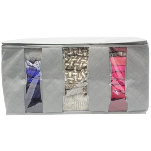 45f1da2eb0ee Sorbus 2pk Foldable Fabric Storage Organizer Bag 3 Sectional 24