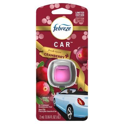 Febreze Car Air Freshener - Fresh Twist Cranberry - 1ct
