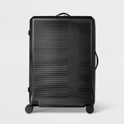 """Hardside 29"""" Checked Spinner Suitcase Black - Open Story™"""