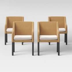 Berkshire 4pk Patio Dining Chair - Linen - Threshold™