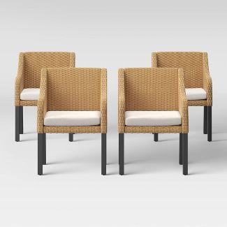 Berkshire 4pk Patio Dining Chair - Linen - Threshold™