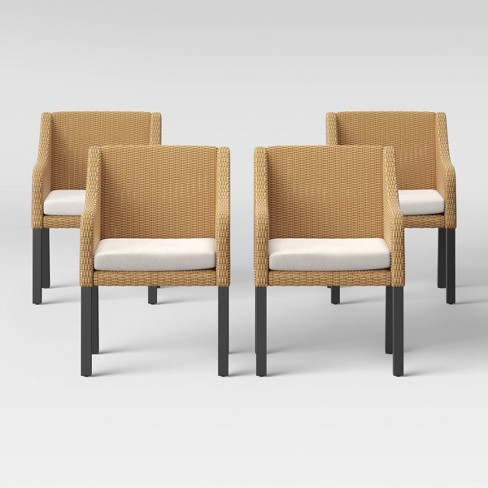 Berkshire 4pk Patio Dining Chair - Linen - Threshold™ - image 1 of 4