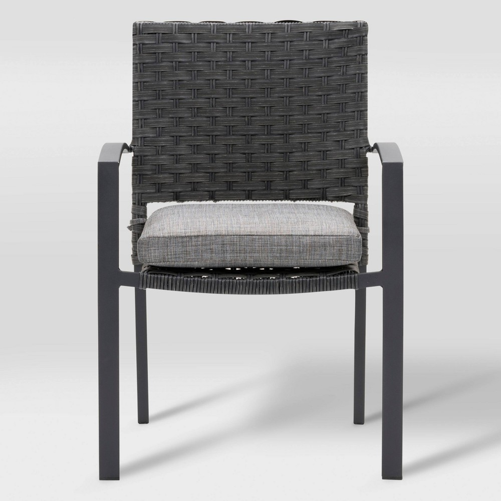 Parkview 4pk Patio Dining Chair - Charcoal Gray - CorLiving