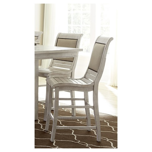 Willow Counter Upholstered Dining Chair - Distressed White (Set Of 2) - image 1 of 1