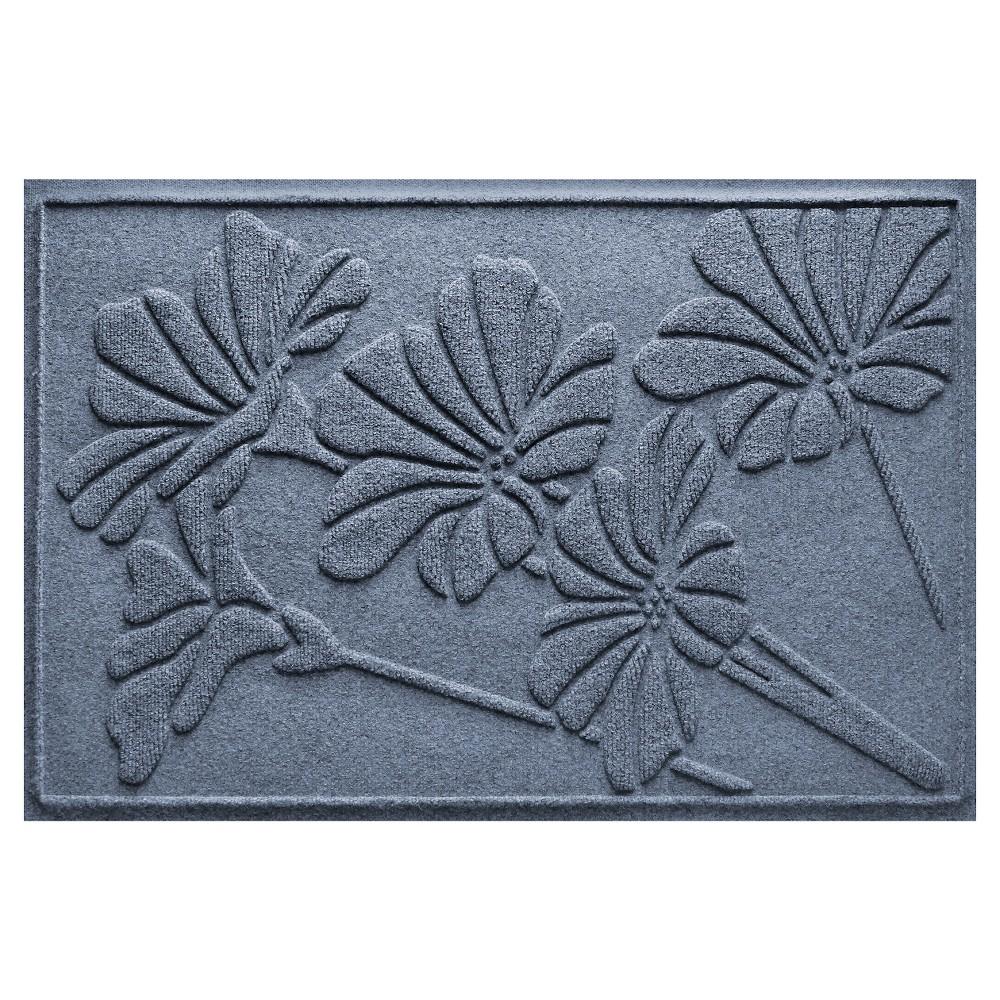 Blue Stone Botanical Doormat - (2'X3') - Bungalow Flooring