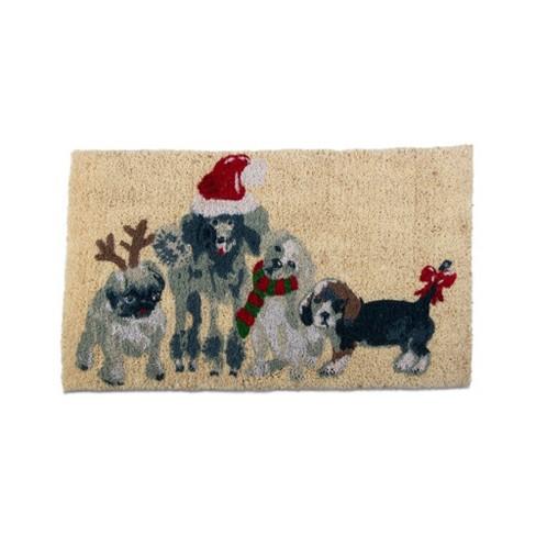 "TAG 1'6"" x 2'6"" Holiday Dogs Coir Doormat Indoor Outdoor Welcome Mat - image 1 of 2"