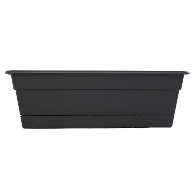 24  Novelty Dura Cotta Window Box - Black - Bloem