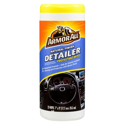 Armor All Natural Finish Detailer Protectant Wipes