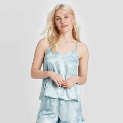 Women's Tie-Dye Print Satin Sleep Camisole - Stars Above™ Blue L