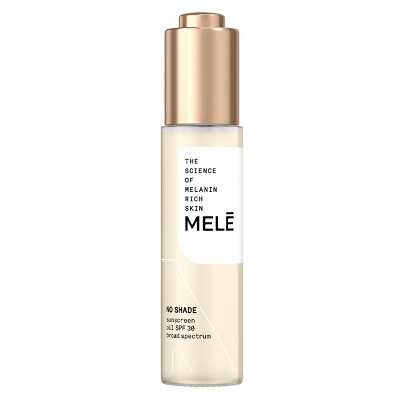 Mele No Shade Sunscreen Oil Broad Spectrum for Melanin Rich Skin - SPF 30 - 1 fl oz