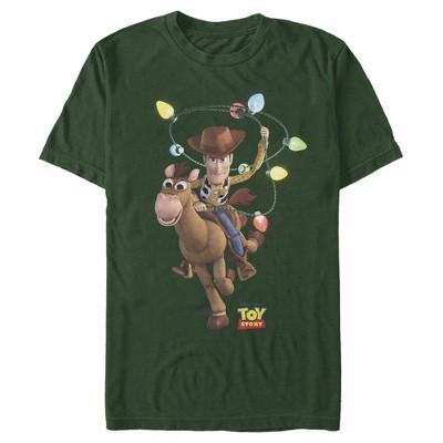 Men's Toy Story Christmas Light Woody Lasso T-Shirt