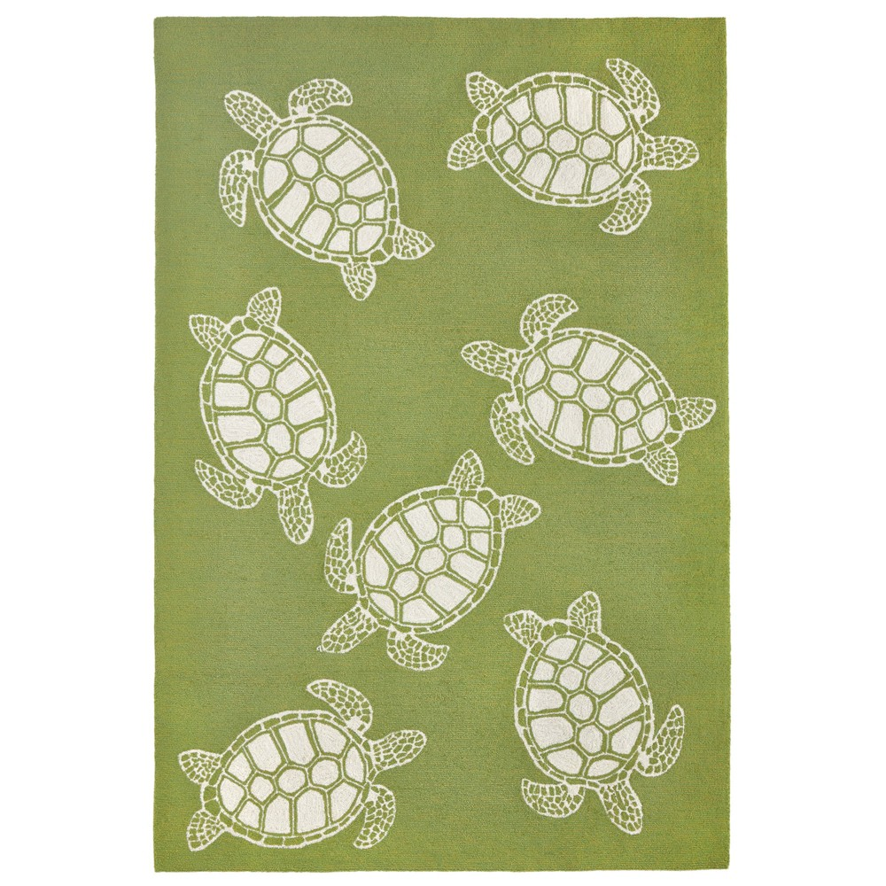 Image of 5'X7'6 Turtle Area Rug Green - Liora Manne