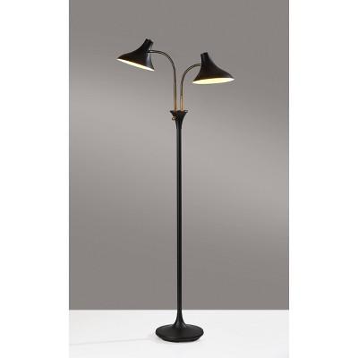 Ascot Floor Lamp Black - Adesso