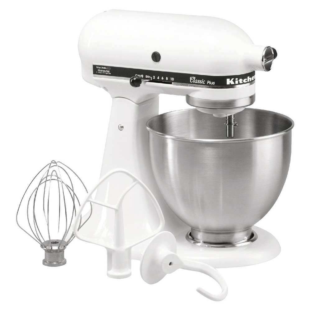 KitchenAid Classic Plus 4.5qt Stand Mixer – White KSM75 592769
