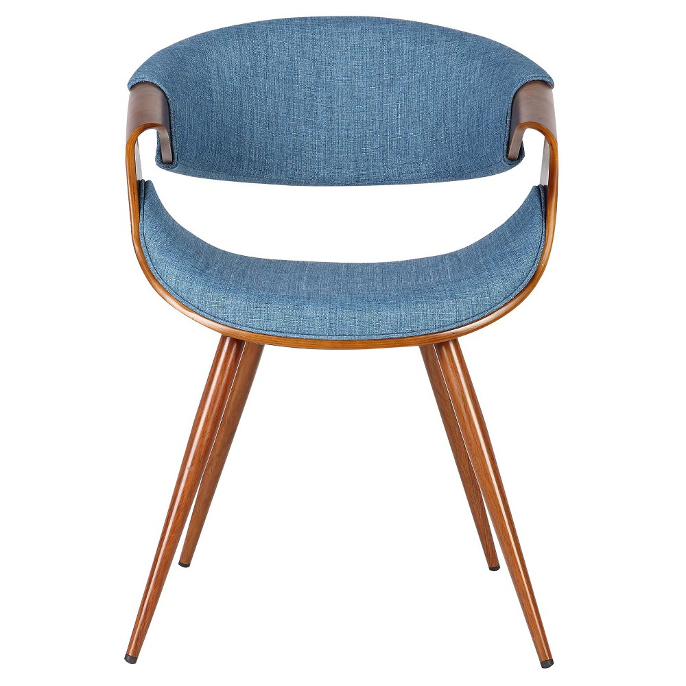 Butterfly Mid - Century Dining Chair - Blue - Armen Living
