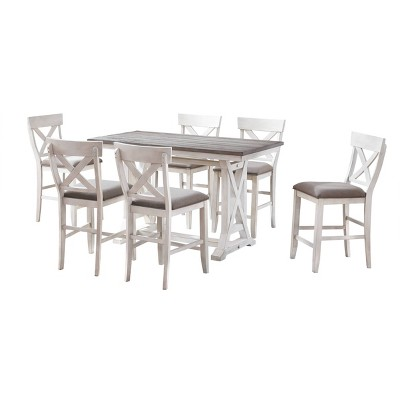 Isle Shores II Counter Height Dining Table Cream - Treasure Trove Accents