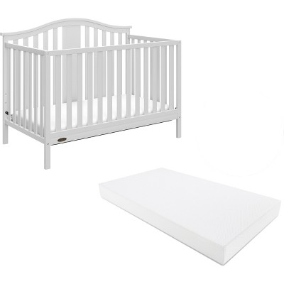 Graco® Solano 4-in-1 Convertible Crib with Bonus Mattress - White