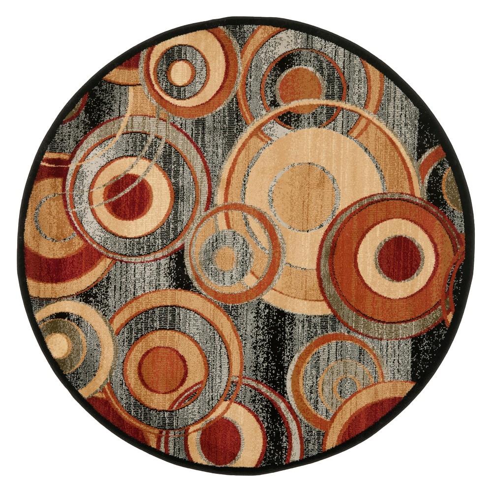 5'3 Shapes Loomed Round Area Rug Gray - Safavieh, Gray/Multi