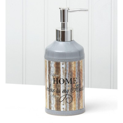 Lakeside Inspirational Farmhouse Soap/Lotion Dispenser Pump for Kitchens and Bathrooms