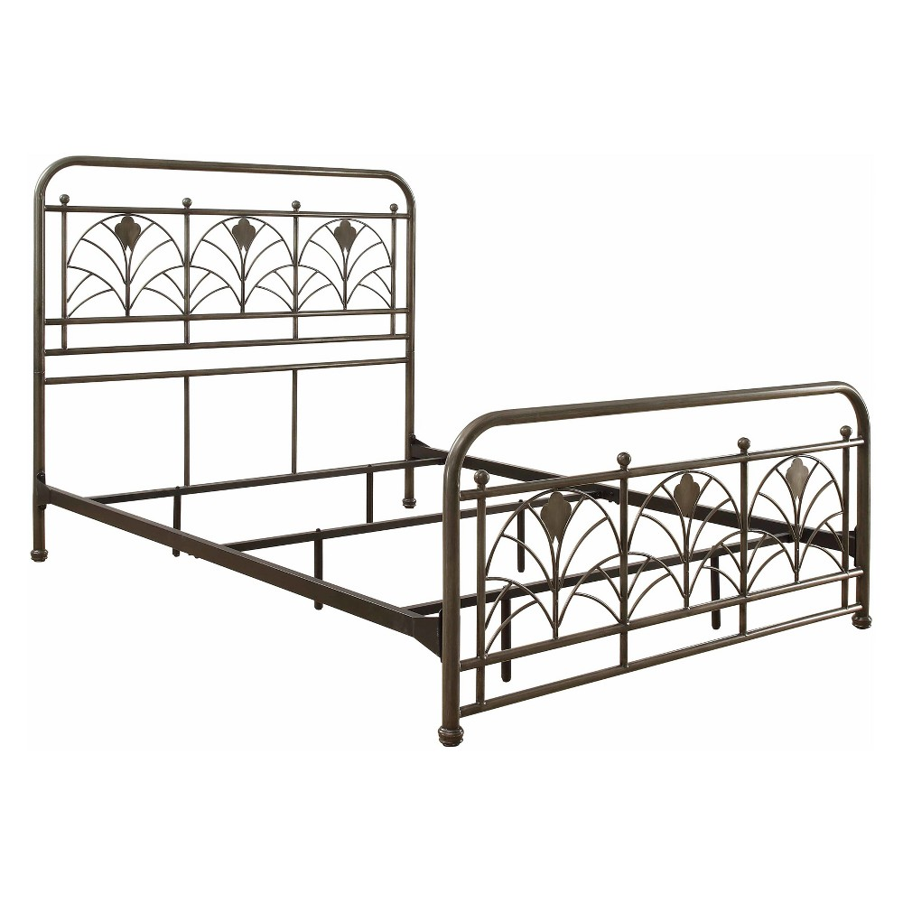 Avery Metal Bed King Pewter Gray - Foremost