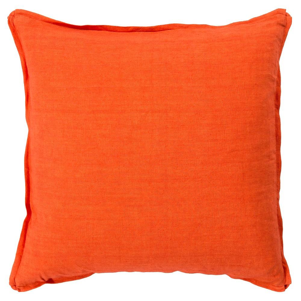 Poppy Zevgari Linen Throw Pillow 22