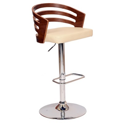 Adele Mid-Century Modern Adjustable Swivel Barstool - Armen Living