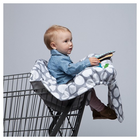 Boppy Luxe Shopping Cart Cover, Gray Dots - image 1 of 19