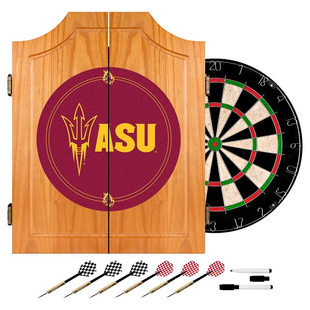NCAA Arizona State Sun DevilsWood Dart Cabinet Set, Arizona State Sun Devils
