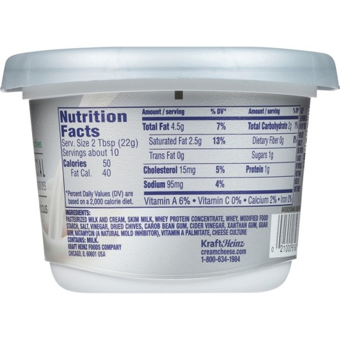 Philadelphia Cream Cheese Ingredients