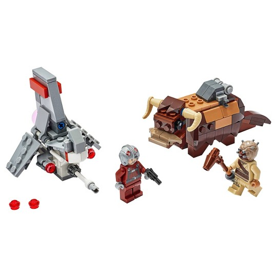 LEGO Star Wars: A New Hope T-16 Skyhopper vs Bantha Microfighters 75265 Collectible Toy Building Kit image number null