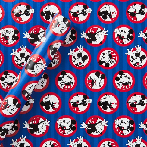 Disney Mickey Mouse Gift Wrap Blue