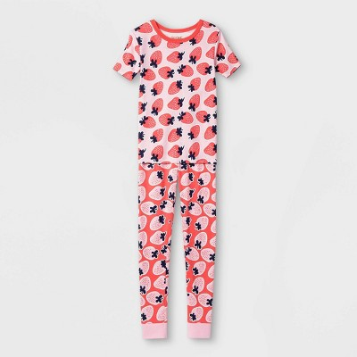 Kids' 2pc Tight Fit Pajama Set - Cat & Jack™ Pink