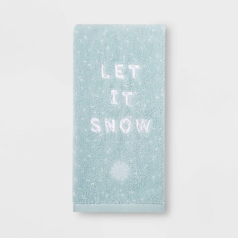 Let it Snow Hand Towel Light Blue - Threshold™ - image 1 of 1