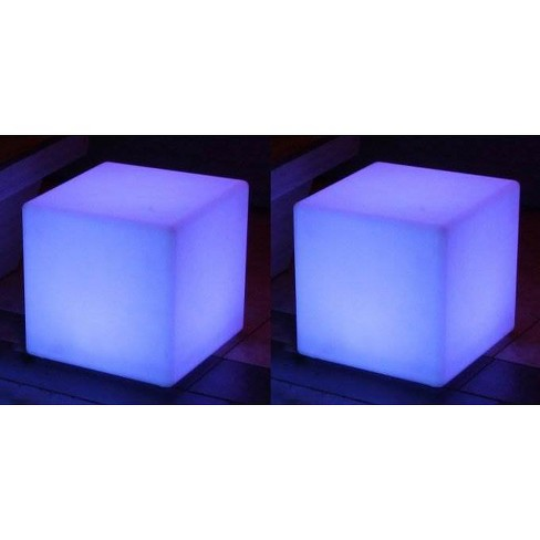 """2 Main Access 16"""" Pool/Spa Waterproof & Floating LED Light Seats, Cube - image 1 of 4"""