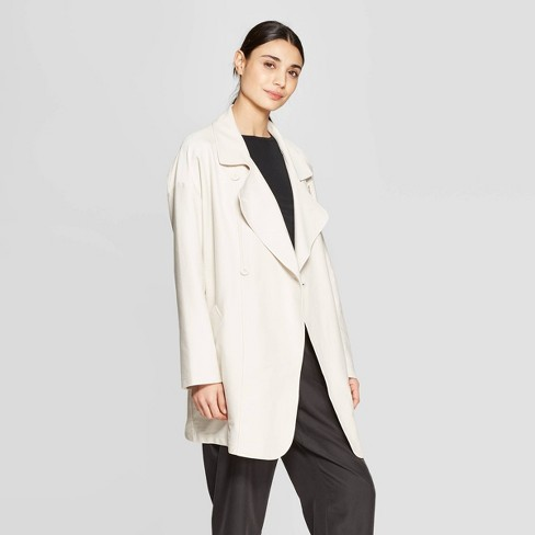 1f4a44975 Women's Long Sleeve Front Open Drape Lapel Coat - Prologue™ Cream