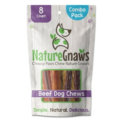 Nature Gnaws Beef Combo Pack Dog Treats - 8ct