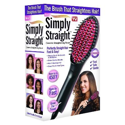 Straightening brush target