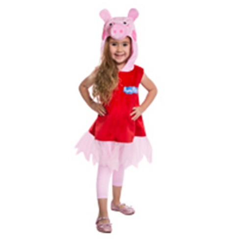 Peppa Pig Girls' Deluxe Dress Halloween Costume 3T-4T - Palamon - image 1 of 1