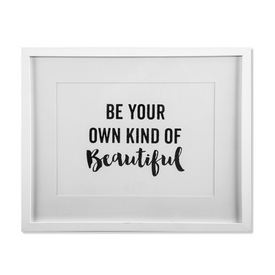 16 x20  Be Your Own Framed Wall Poster Print White - Threshold™