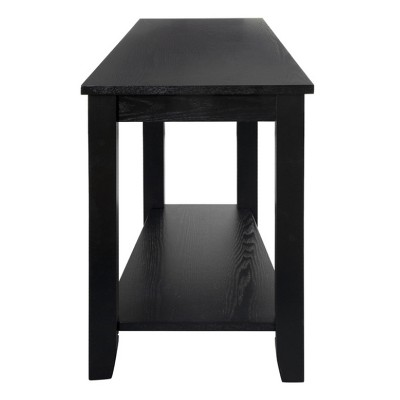 Homelegance Elwell Collection Wood Modern Living Room Corner Side Stand Wedged Chairside End Table Table for Living Room, Black